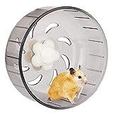 iFCOW Roue de course pour hamster 5,2 pouces en plastique acrylique super silencieux pour petits animaux de compagnie
