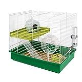 Ferplast Duo Cage pour Hamster avec Accessoires Barreaux Blancs