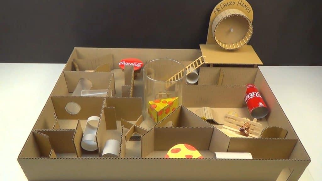 labyrinthe pour hamster en carton